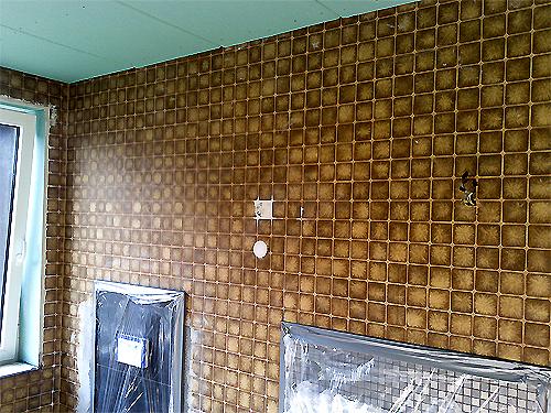Venezianische Spachteltechnik Stucco Marmor Anleitung Im Badezimmer - Fliesen überspachteln und streichen