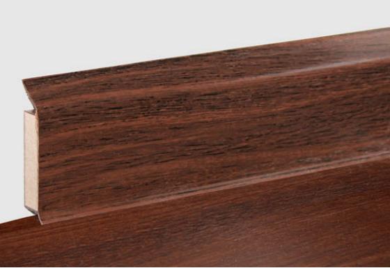 Optische Übereinstimmung der Sockelleiste mit aktuellen modernen Designböden Sockelleiste EP 60 flex life