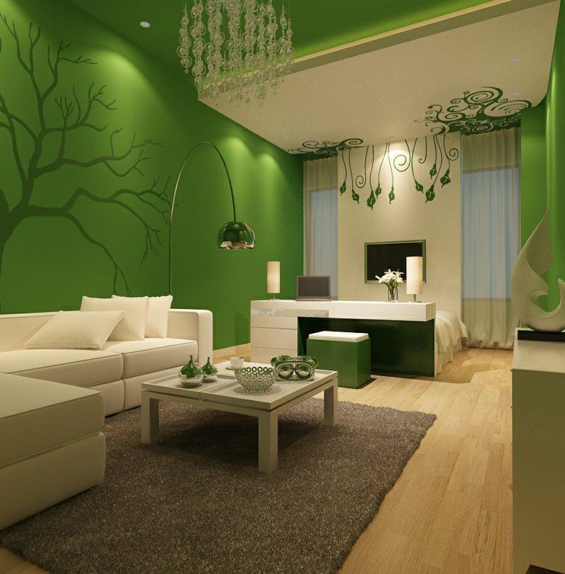 farben fuer wohnzimmer gruen grau teppich kronleuchter couch weiss malerhandwerk. Black Bedroom Furniture Sets. Home Design Ideas