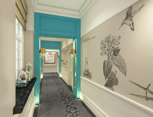 Tapeten Flur Gestaltung : klassischeFlurGestaltungIdeenTapetenblaueWandfarbe › MalerTV