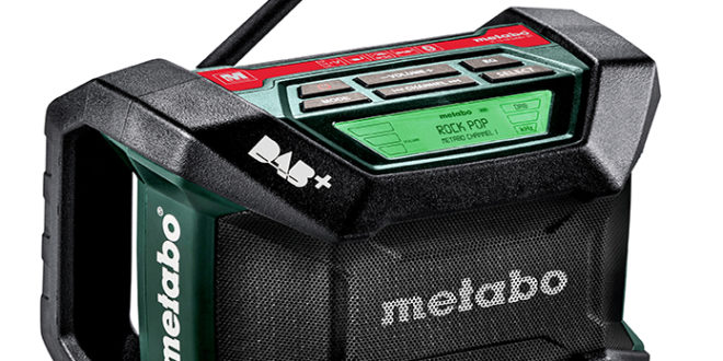 Neues Digitales Baustellenradio von Metabo R 12-18 DAB+ BT
