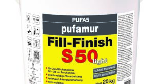 Neu von Pufas: Fertigspachtel pufamur Fill-Finish S50 light